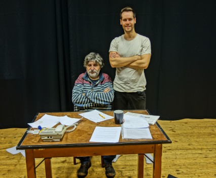 "Rehearsal of ""The Author"" with director Břetislav Rychlík, November 2014"