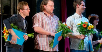 Evald Schorm Prize with other finalists, May 2014