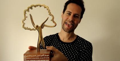 The Best Male Actor Prize, FITUA festival, Agadir, Morocco, April 2015